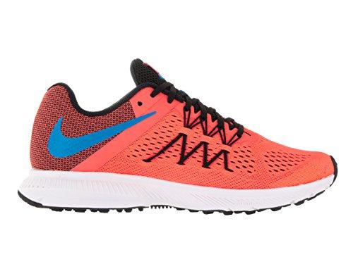 Nike Donna Zoom Winflo 3 Scarpa Da Corsa Mango Brillante / Bl Glow / Blk / Bianco