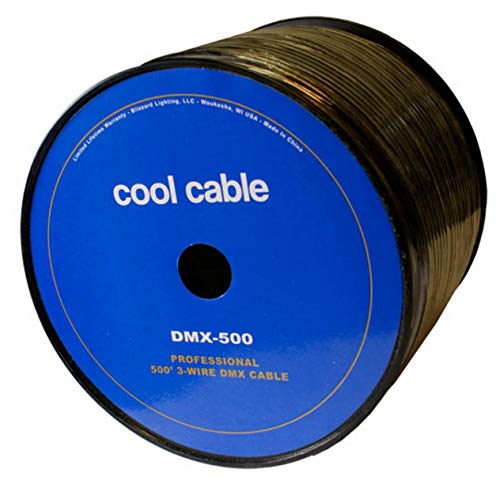 DMX-500 500' spool, 3 pin DMX cable (Bulk Dmx Cable)