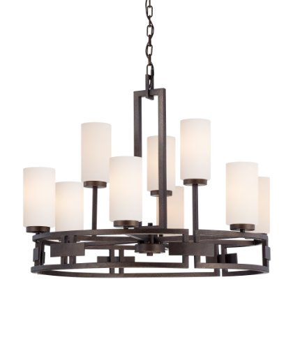 Designers Fountain 83889-FBZ Del Ray 9 Light Chandelier, 34
