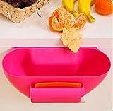 Crazycatz@Auffangschale für Küchenabfälle, mit Spachtel (rosa)