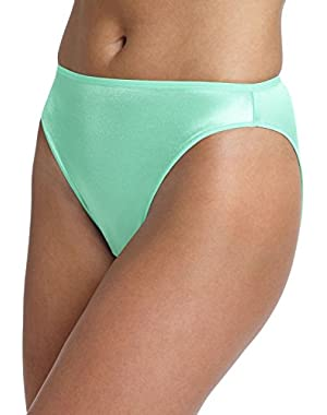 Hanes Women's Satin Stretch Hi-Cut Panty (Pack of 2)