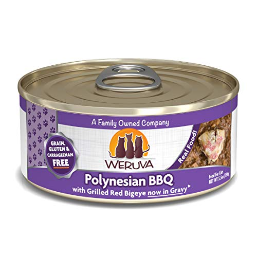 Weruva Classic Cat Food, Polynesian Bbq With Grilled Red Bigeye In Aspic, 5.5Oz Can (Pack Of 24)