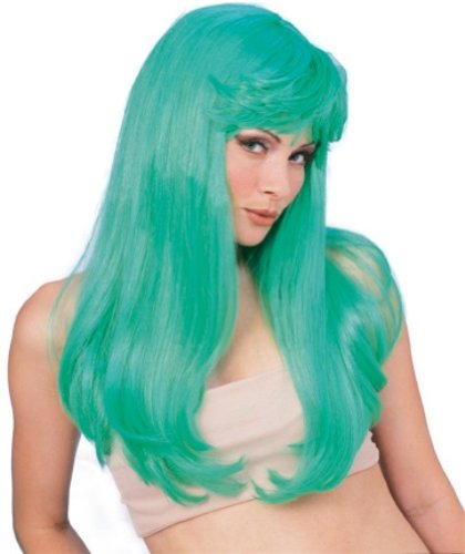 Rubie's Costume Long Glamour Wig, Green, One Size