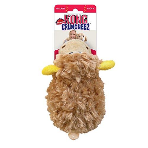KONG Company RC33 Barnyard Cruncheez Sheep Dog Toy Tan, Smal