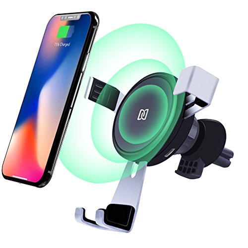 Wireless Car Charger Mount, BlueSN Gravity Car Air Vent Phone Holder, Fast Charge for Samsung Galaxy Note 8, S8/S8 Plus, S7/S7 Edge, iPhone X 8/8 Plus, Standard Charge for All Qi Enabled Devices