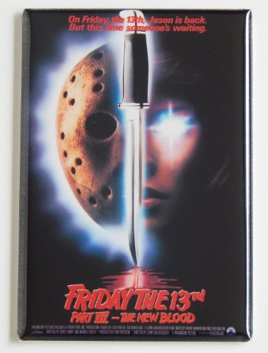 Friday the 13th Part 7 Movie Poster Fridge Magnet