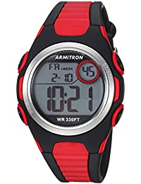 Unisex 45/7076BRD Digital Chronograph Red and Black Resin Strap Watch