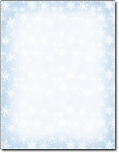 Holiday Stationery (Blue Snowflakes Holiday Stationery - 80 Sheets)