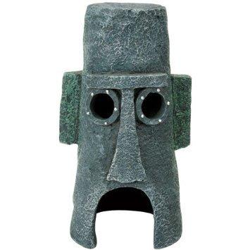 Penn Plax Squidward's Easter Island Home Ornament ()