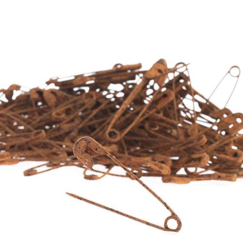 This Bulk Bag of 288 of Primitive Aged, Grungy and Rusty Metal Safety Pins is a Must Have for Primitive Craft Projects! Perfect for embellishing prim Dolls, attaching Tags, and Other Rustic displays. by Factory Direct Craft