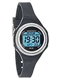 Sportech Unisex | Grey Thin Band Water Resistant Swim Sport Watch | SP10715