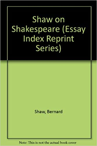 Shaw On Shakespeare Essay Index Reprint Series