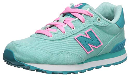 New Balance Girls' 515v1 Running Shoe, Light Tidepool/NEON Aqua Blue, 11 W US Little Kid (Kids Blue Tide Apparel)
