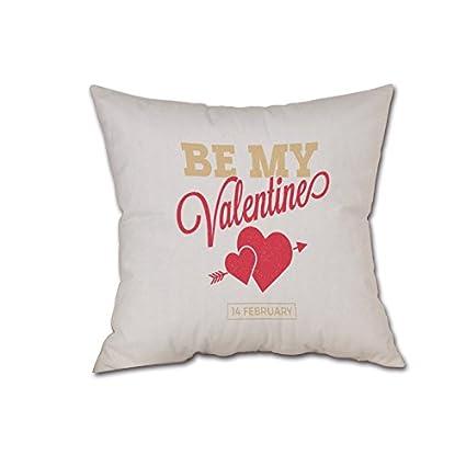 Valentine Fundas de Almohada, 7.1 x 7.1 in, diseño de ...
