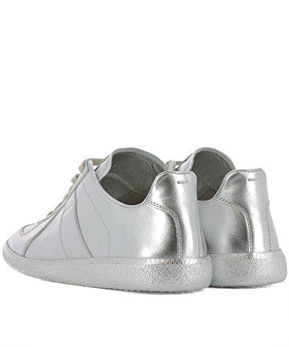 MAISON MARGIELA Sneakers Uomo S37WS0387SY1169905 Pelle Argento Sitios Web Precio Barato De Italia En Línea Amazon Venta En Línea Venta Barata Mejor Lugar MrDSMSYO
