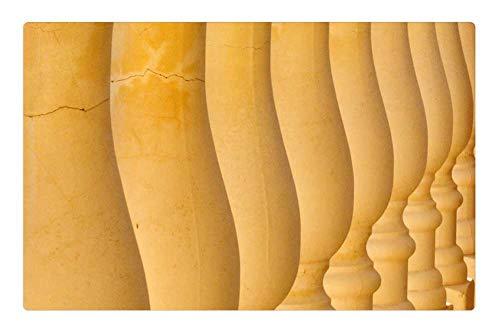 Tree26 Indoor Floor Rug/Mat (23.6 x 15.7 Inch) - Columns Balusters Stones Symmetry Architecture