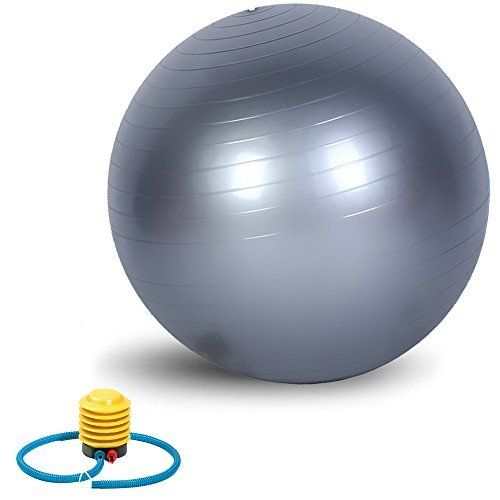 Exercise Ball, VLENIEN Anti Burst and Slip Resistant Fitness Ball with Pump