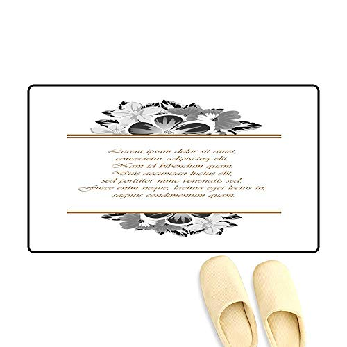 doormatFrame of Monochrome Colors for Design Postcards Greeting Invitation for a Birthday Valentine s Day Wedding Party Holiday Celebration for The Decoration 1119 Outdoor Doormat 40x60cm