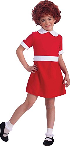Girls Annie Kids Child Fancy Dress Party Halloween Costume, L -