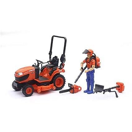 Kubota Lawn Tractor >> Amazon Com 1 18 Kubota Bx2670 Lawn Tractor With Figure
