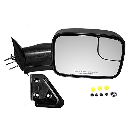 - Passengers Manual Side Tow Mirror 7x10 Flip-Up with Mounting Bracket Replacement for Dodge Pickup Truck 55156334AD AutoAndArt