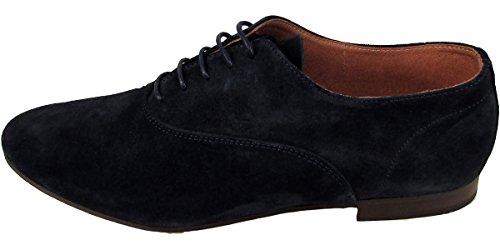 Base London Sax piel Formal de piel Para Hombre Derby Shoe Lace Up Zapatos de funda Azul