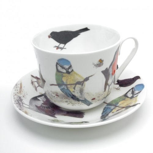 Roy Kirkham Garden Birds Breakfast Cup and Saucer ()