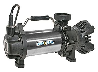 BurCam 300910 Submersible Waterfall Pump, 115V Continuous Duty, 1/2 hp