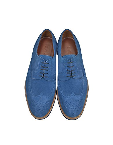 Camoscio A Stringate Blu TESTONI Uomo M45702BEH98168OTM 8RRSA4nqI