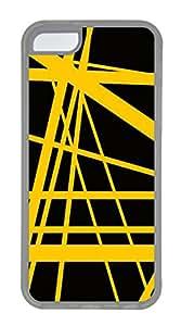 iPhone 5C Case, iPhone 5C Cases - Rock Star Yellow Custom Design iPhone 5C Case Cover - Polycarbonate¨C Transparent