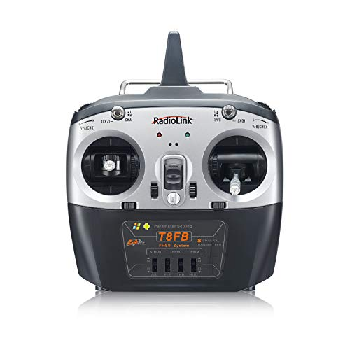 Radiolink T8FB 8CH RC Radio and Receiver R8EF 2.4GHz Remote Controller SBUS/PPM/PWM for Airplane Boat Car and More (Mode 2)