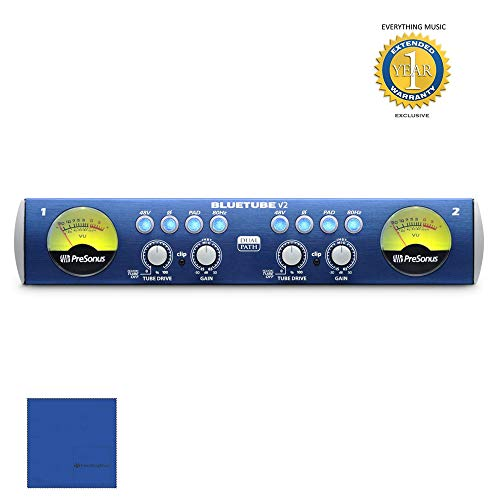 (PreSonus BlueTube DP v2 2-channel Microphone Preamplifier with 1 Year Free Extended Warranty)