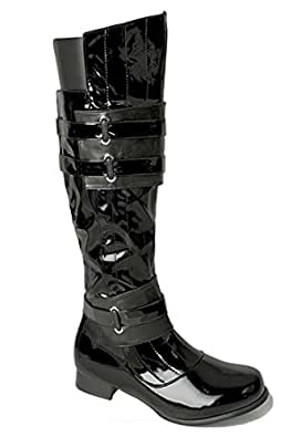 Men's Halloween Costume Cosplay Strapped Western Gothic Super Hero Star Wars Boots L