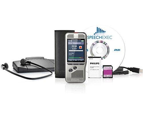 Philips DPM6700 Digital Pocket Memo Range Recorder Starter Set with SpeechExec Starter-Set Workflow Software and Push Button ()
