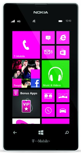 Nokia Lumia 521 T-Mobile GSM Windows 8 4G Noncontract Smartphone - White (Windows 8 Phone Verizon compare prices)