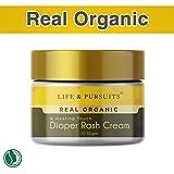 Life & Pursuits: Certified Organic Ayurveda Baby Diaper Rash Cream with Zinc Oxide & Organic Calendula, 100% Natural (50gm)