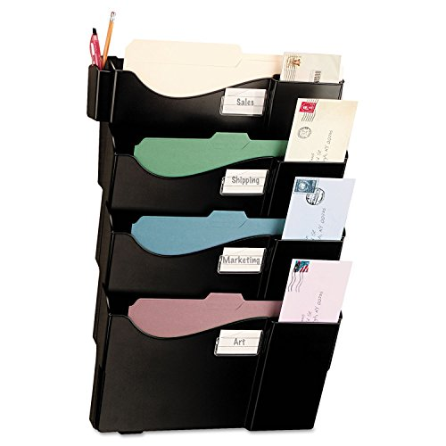 - Officemate Grande Central Filing System, Letter/A4 and Legal Size, 4 Pockets, Black (21724)