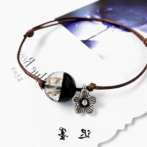 - New Korean simple literary Sen Deparent fresh popcorn girl students bracelet color crystal glass boudoir cheap Sands