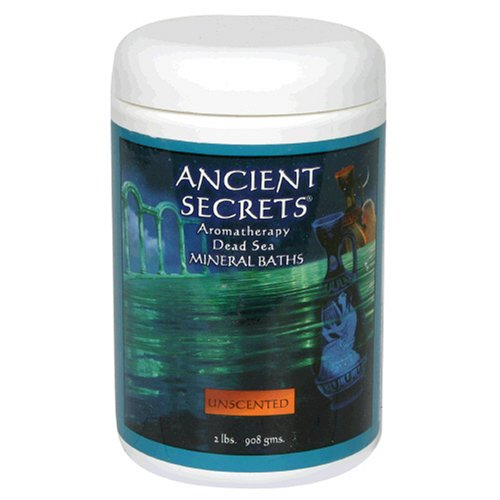Ancient Secrets Bath Salt (Ancient Secrets Mineral Baths, Aromatherapy Dead Sea, Unscented, 32 oz (2 Lbs) 908 G (Pack of)