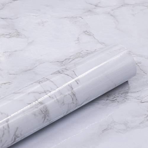 """Marble Self Adhesive Paper 24"""" X 79"""" Granite Look Effect Contact Paper Decorative Self-Adhesive Film Marble Gloss Vinyl Film Contact Paper"""