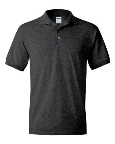 Gildan Boys 5.6 oz. DryBlend 50/50 Jersey Polo G880B -DARK HEATHER (5.6 Ounce Polyester Moisture)
