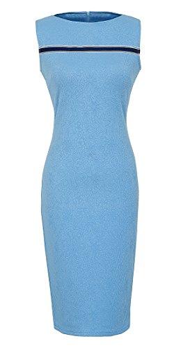 HOMEYEE Womens Sleeveless Fashion Bodycon