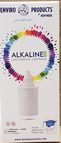New Wave Enviro Alkaline Water Filter Pitcher Plus- Removes Lead and Bacteria (New Wave 10 Stage)
