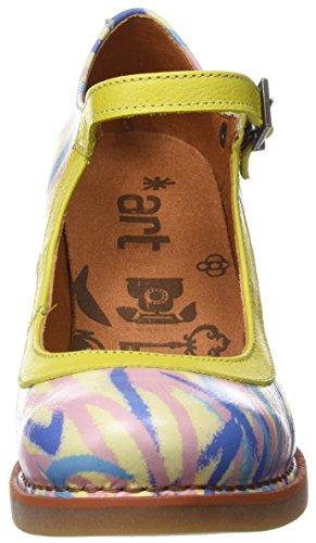2 Tacco Scarpe Punta Multicolore col St Fantasy Arlekin Chiusa 1070f Art Tropez Donna qWw7Zgc1