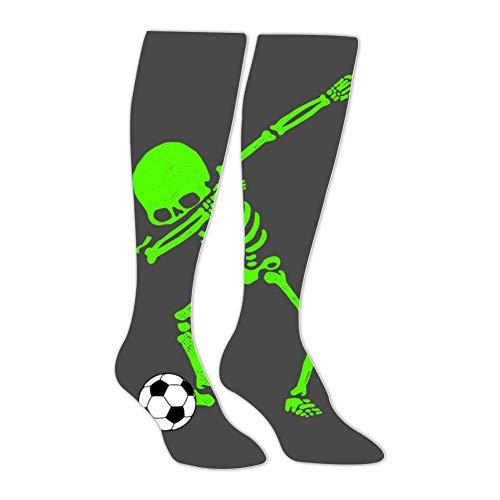 Long Stockings Halloween Dabbing Skeleton Soccer Ball Tube Knee High Socks Athletic Sports Leggings Warm Socks for Man -