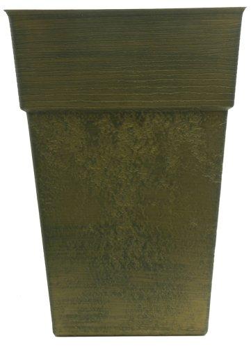 Listo AOS16000P54  Avino Square Planter, 16-Inch, Celtic Bronze