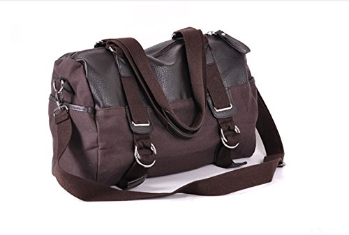 Backpack Diagonal Package Travel Leisure Men's Shoulder Multi purpose Laidaye Brown Business S46Bzng