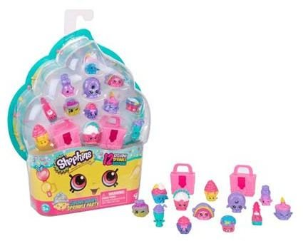 Shopkins Cupcake Queens Sprinkle Party Playset of 12 + 2 Cake Boxes -