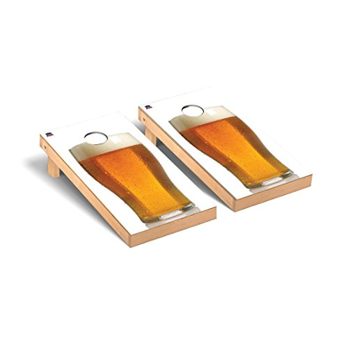 Victory Tailgate Big Beer White Background Cornhole Game Set