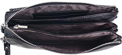 Wrislet Handbag Bag Clutch Purse Heshe Genuine Organizer Leather Satchel Crocodile Rose Crossbody Shoulder Purse for Women RxfUUwqg8